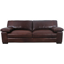Buy John Lewis Mattis Leather Extra Grand Sofa, Splendour Chestnut Online at johnlewis.com