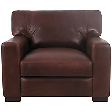 Buy John Lewis Mattis Leather Armchair, Splendour Chestnut Online at johnlewis.com