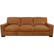Buy John Lewis Bari Leather Large Sofa, Splendour Brittany Online at johnlewis.com