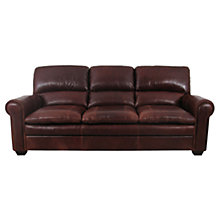 Buy John Lewis Castello Grand Leather Sofa, Splendour Chestnut Online at johnlewis.com