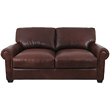 Buy John Lewis Modena Large Leather Sofa, Splendour Chestnut Online at johnlewis.com