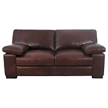 Buy John Lewis Mattis Leather Large Sofa, Splendour Chestnut Online at johnlewis.com