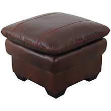 Buy John Lewis Castello Leather Footstool, Splendour Chestnut Online at johnlewis.com