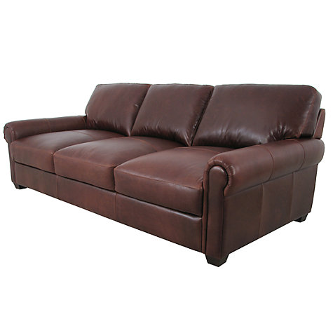 Buy John Lewis Modena Grand Leather Sofa, Splendour Chestnut Online at johnlewis.com