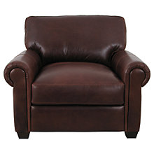Buy John Lewis Modena Leather Armchair, Splendour Chestnut Online at johnlewis.com