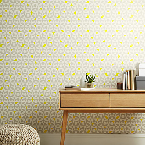 Buy house by john lewis triangles wallpaper john lewis for John lewis bathroom wallpaper