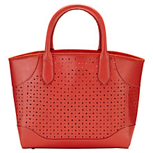 Buy Viyella Ella Leather Cutwork Tote Bag, Amaryllis Online at johnlewis.com