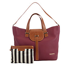 Buy BabyBeau Ellie Leather Changing Bag, Berry Online at johnlewis.com