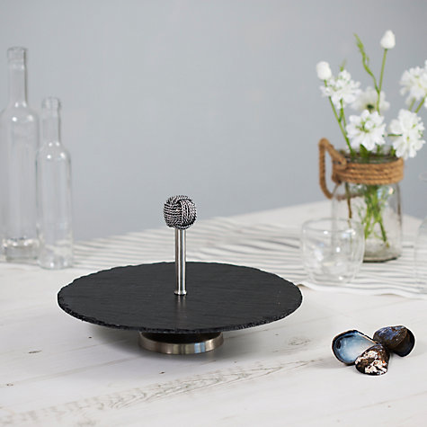 Buy Just Slate Rope Serving Stand Online at johnlewis.com