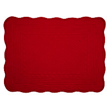Buy John Lewis Quilted Placemat, Cranberry Online at johnlewis.com