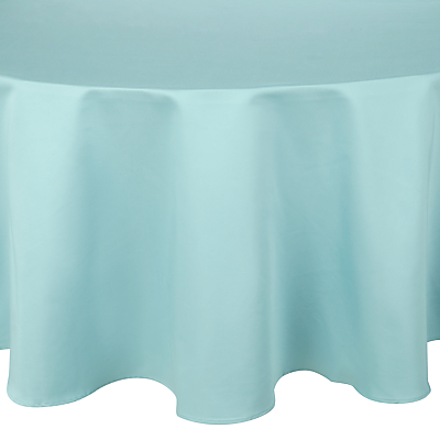 John Lewis Mezzo Tablecloth, Duck Egg, Dia.180cm