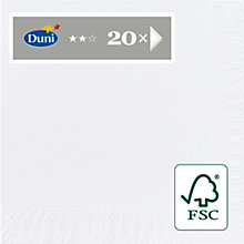 Buy Duni Cocktail Napkins, White, Pack of 20 Online at johnlewis.com