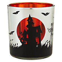Buy John Lewis Haunted House Glass Tealight Holder Online at johnlewis.com