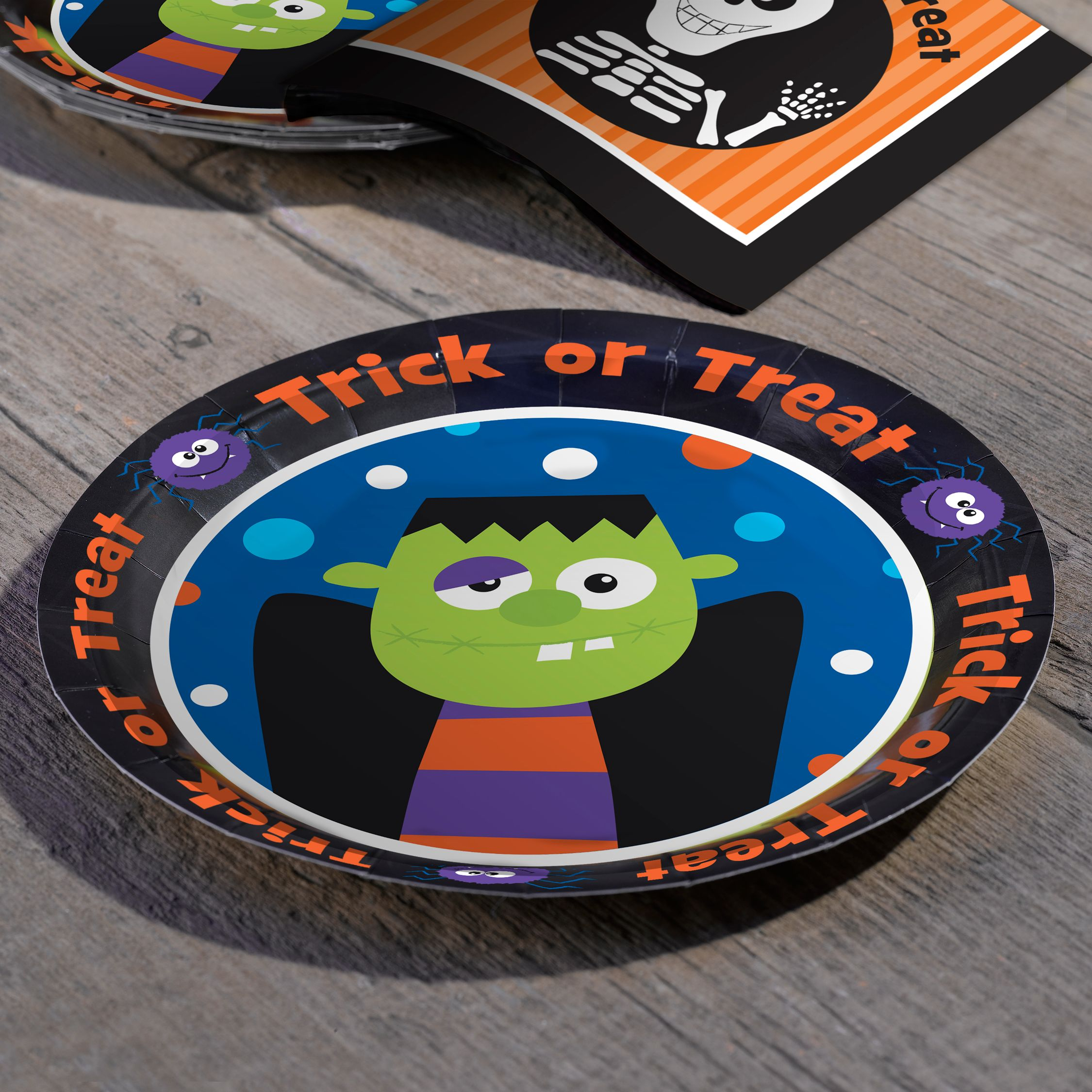 Trick Or Treat Paper Plates, Pack of 8