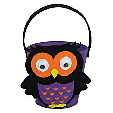 Buy John Lewis Owl Felt Bucket, Purple Online at johnlewis.com
