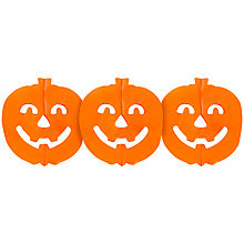 Buy Neviti Tissue Paper Pumpkin Garland, Orange Online at johnlewis.com