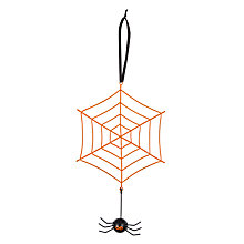 Buy John Lewis Hanging Spider Web Decoration, Orange Online at johnlewis.com