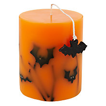 Buy John Lewis Bat Pillar Wax Candle, Small Online at johnlewis.com