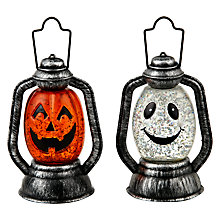 Buy John Lewis Pre-Lit Glitter Mini Lantern Online at johnlewis.com