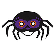 Buy John Lewis Felt Spider Mask Online at johnlewis.com