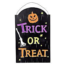 Buy John Lewis Trick Or Treat Sign Online at johnlewis.com