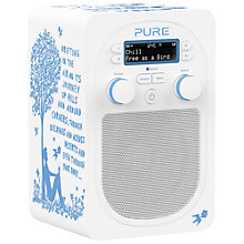 Buy Pure Evoke D2 by Rob Ryan Designer DAB/FM Bluetooth Digital Radio, Blue & White Online at johnlewis.com