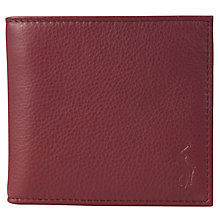 Buy Polo Ralph Lauren Pebble Leather Billfold Wallet Online at johnlewis.com