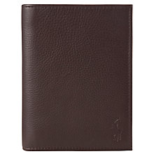 Buy Polo Ralph Lauren Pebble Leather Passport, Brown Online at johnlewis.com