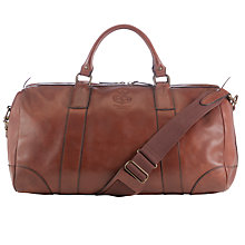 Buy Polo Ralph Lauren Leather Duffel Bag, Brown Online at johnlewis.com