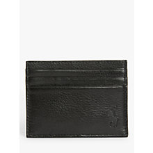 Buy Polo Ralph Lauren Pebble Leather Card Holder, Black Online at johnlewis.com