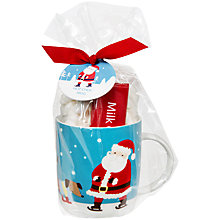 Buy John Lewis Santa Marshmallow Hot Chocolate and Bar Mug Online at johnlewis.com