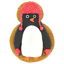 Buy Image on Food Iced Penguin Gingerbread Biscuit, 70g Online at johnlewis.com