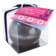 Buy James Festive Dark Chocolate Bauble, 45g Online at johnlewis.com