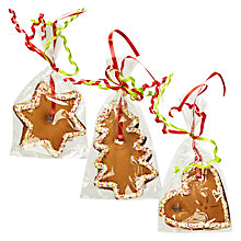 Buy Gingerbread Assorted Selection of 3 Hanging Decorations Online at johnlewis.com