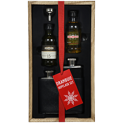 Drambuie Scotch Whisky and Hip Flask Set, 10cl