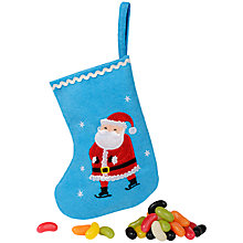 Buy Santa Mini Stocking with Jelly Beans, 100g Online at johnlewis.com