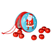 Buy Santa Claus Zipped Tin with Milk Chocolates, 100g Online at johnlewis.com