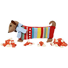 Buy John Lewis Knitted Sausage Dog Pencil Case and Jelly Bones, 200g Online at johnlewis.com