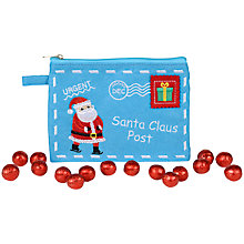 Buy Santa Airmail Pouch with Foiled Milk Chocolate Balls Online at johnlewis.com