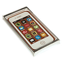 Buy Natalie Chocolates Milk Chocolate White iPhone, 40g Online at johnlewis.com