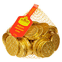 Buy Albert Premier Giant Bag Gold Foiled Coins 375g Online at johnlewis.com