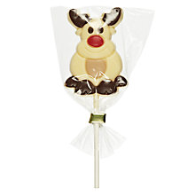 Buy Natalie Chocolates White Chocolate Reindeer Lolly, 35g Online at johnlewis.com