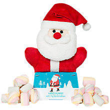 Buy Santa Hand Puppet with Marshmallows, 50g Online at johnlewis.com