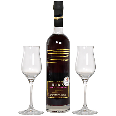 Rubis Chocolate Wine and Glasses Gift Set, 50cl