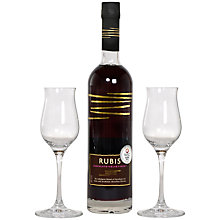 Buy Rubis Chocolate Wine and 2 Glasses Set, 50cl Online at johnlewis.com