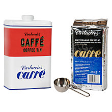 Buy Carluccio's Coffee Tin with Scoop and Espresso, 1 x 250g Online at johnlewis.com