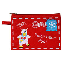 Buy Polar Bear Red Chocolate Pouch, 100g Online at johnlewis.com