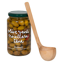 Buy Carluccio's Jar of Green Olives with Spoon, 500g Online at johnlewis.com