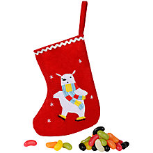 Buy Polar Bear Mini Stocking with Jelly Beans, 100g Online at johnlewis.com