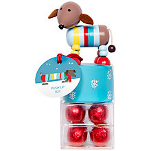 Buy Sausage Dog Push-Up Toy with Milk Chocolates Online at johnlewis.com